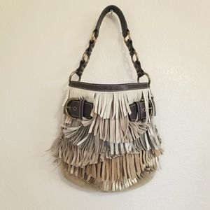 LIKE NEW Coach Tiered Fringe Leather Bag
